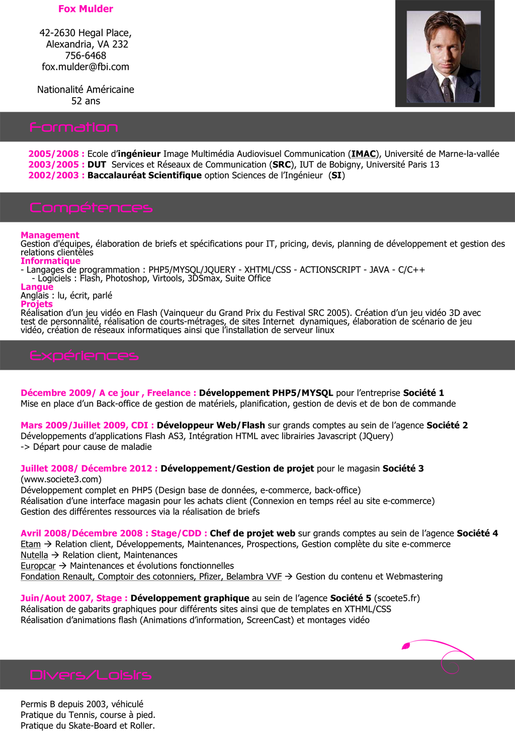 exemple cv informatique developpeur cv type ingenieur informatique   CV Anonyme exemple cv informatique developpeur
