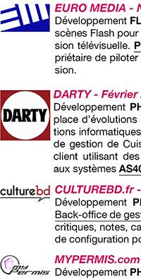 Logos employeurs du CV d'ingénieur freelance